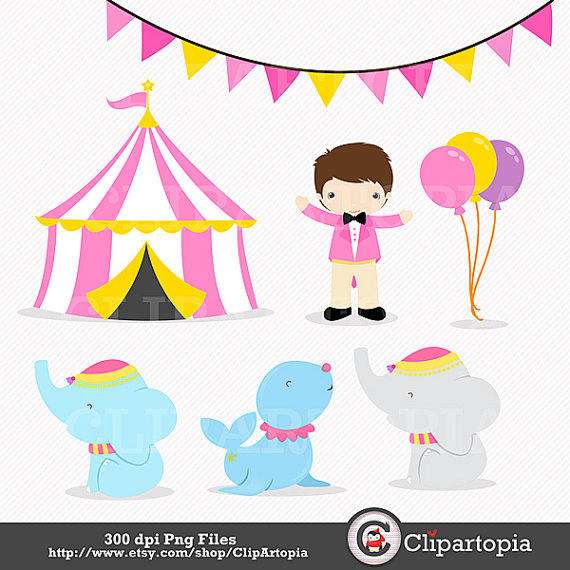 Carnival clipart pink circus tent 50% file / a clipart