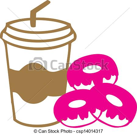 Pink clipart coffee cup Away of coffee Vector away
