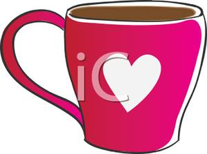 Pink clipart coffee cup A Clipart Clipart of Royalty