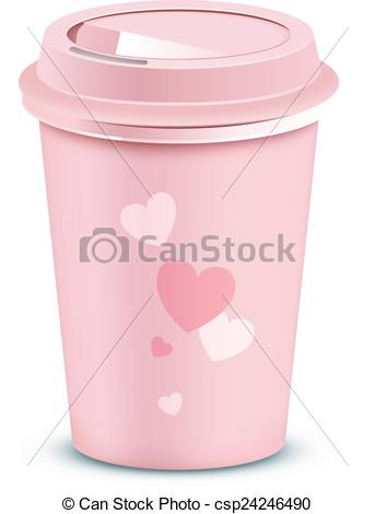 Pink clipart coffee cup With Valentine's cup Pink Pink