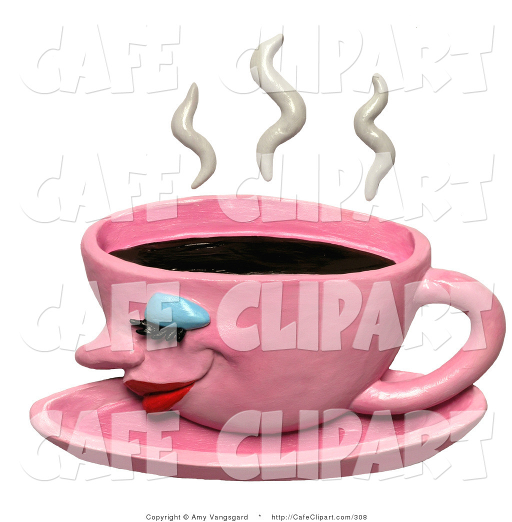Pink clipart coffee cup Coffee a of Clip Clip