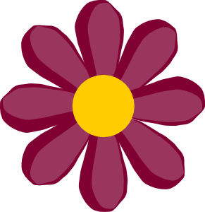Purple clipart yellow flower Flower Flower Clipart Daisy Clipart