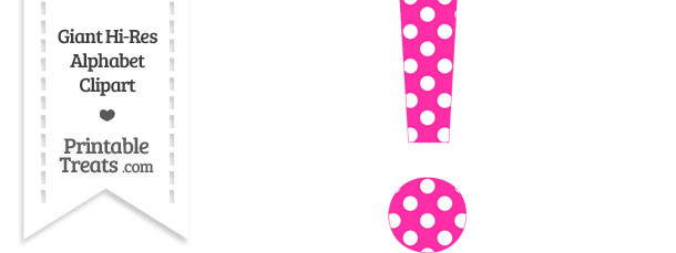 Pink clipart exclamation mark Polka Dot Hot Clipart Mark