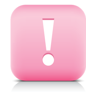Pink clipart exclamation mark Web Exclamation  White Button