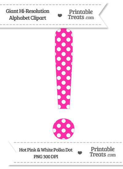 Pink clipart exclamation mark Polka Hot Treats from Dot