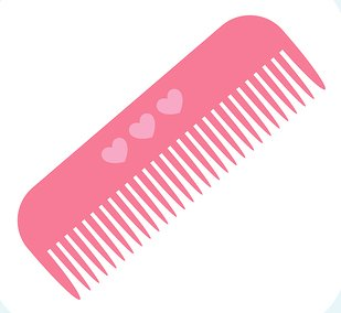 Pink clipart hair brush Download Clipart Comb Clipart Art