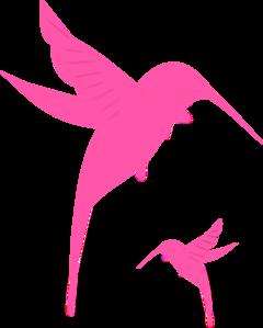 Pink clipart hummingbird Art Clip Clker at Silhouette