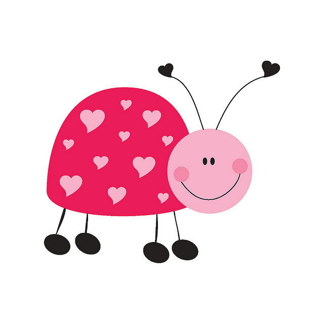 Bug clipart pink lady Ladybug Flickr Stationery and