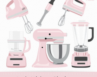 Pink clipart mixer Kitchen clipart Stand digital Pink