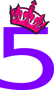 Pink clipart number 5 5 clip Tiara And Pink
