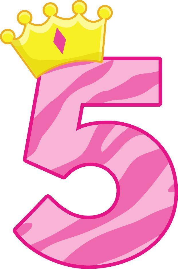Pink clipart number 5 Numbers Pinterest clipart images &