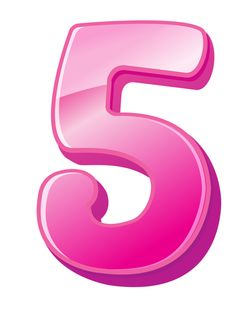 Pink clipart number 5 Five: number Math meaning The