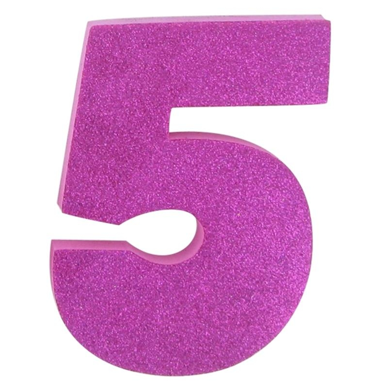 Pink clipart number 5 Glitter Numbers Glitter clipart number