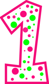 Pink clipart number one Green Number Clipart Download Number