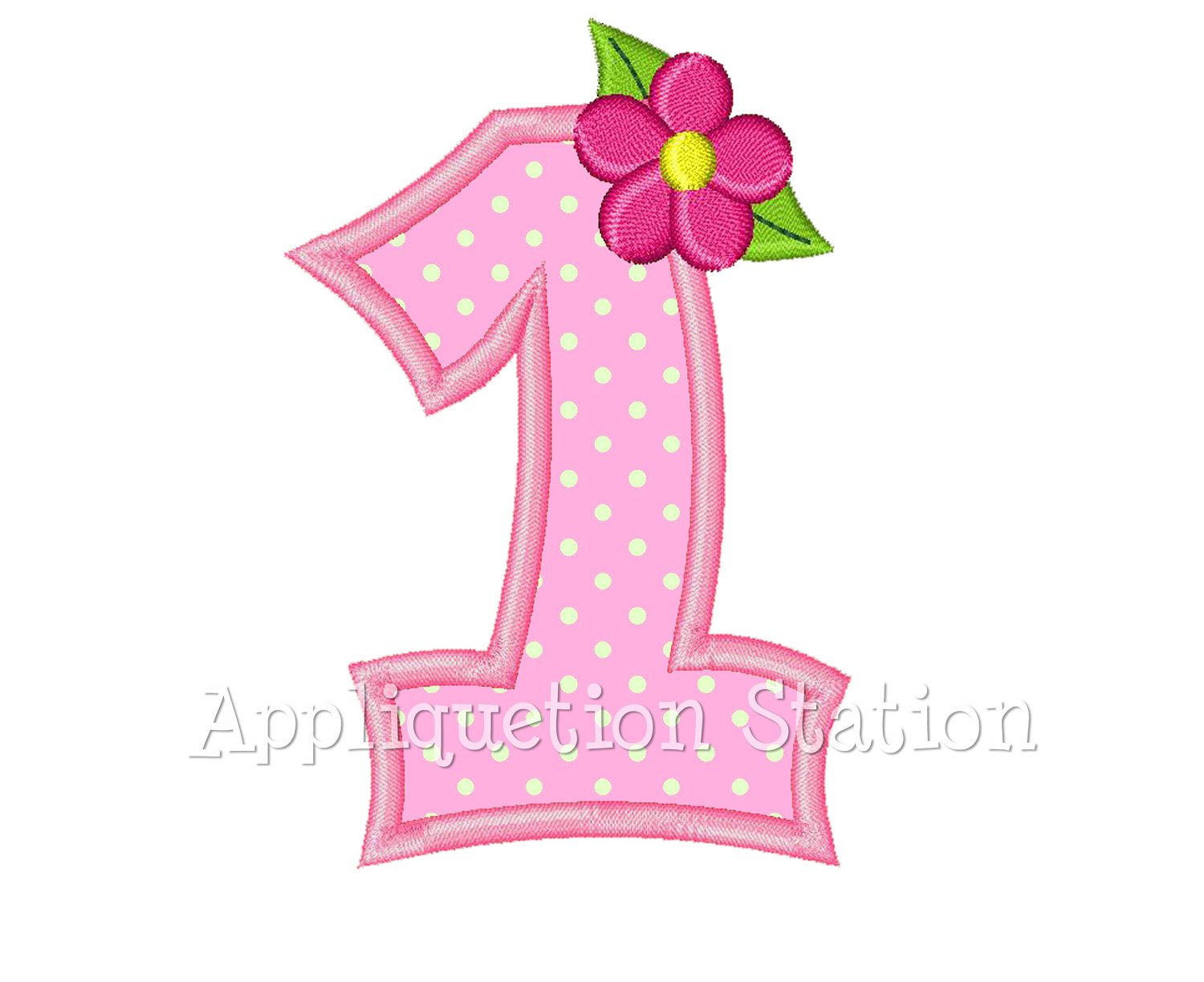 Pink clipart number one File One 1st Applique This