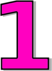Pink clipart number one One Free Clip Free Number