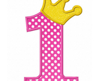 Pink clipart number one Number Free Clip Free number