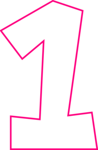 Pink clipart number one  Art One Clip at