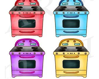 Pink clipart oven Retro Clip Broom art Baby