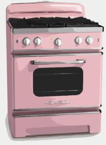 Pink clipart oven Com at Clker clip