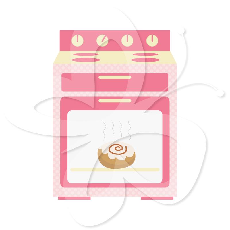 Pink clipart oven Bun Art Set the Oven