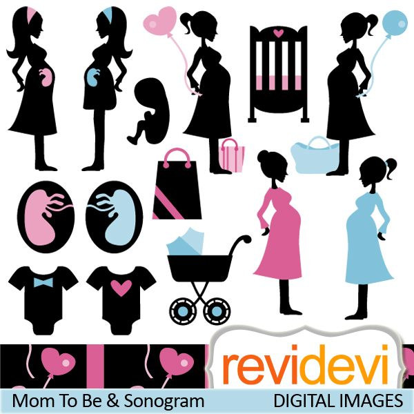 Mommy clipart baby shower #4