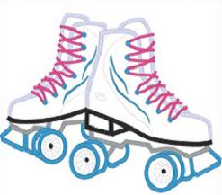 Red clipart roller skate #2