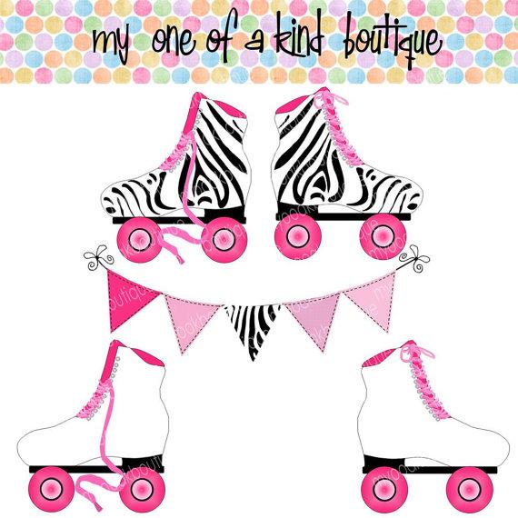 Pink clipart roller skate Clip Clipart Fans art #26