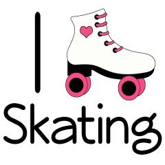 Pink clipart roller skate Roller Skates