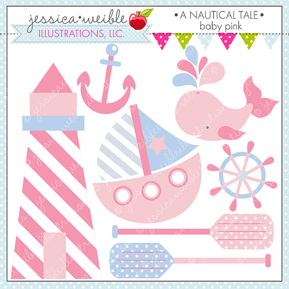 Pink clipart sailboat Digital  Clipart Use for