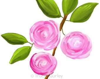 Rose clipart pink rose #6