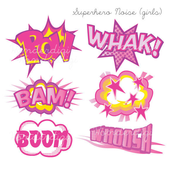Pink clipart superhero On art Clip Etsy art
