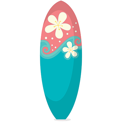 Pink clipart surfboard Surfboard And Surfboard Blue Pink