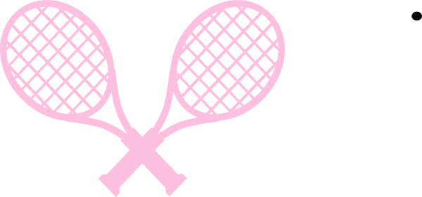 Pink clipart tennis racket Clip online vector Tennis com