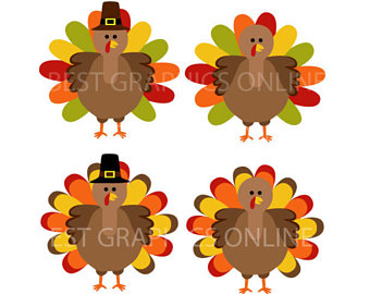 Pink clipart turkey Graphic use clip turkey Commercial
