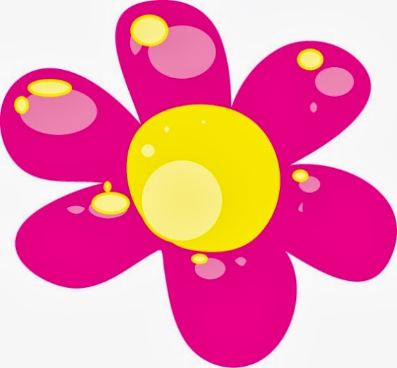 Pink clipart yellow flower Clipart Zone Pink Cliparts flower