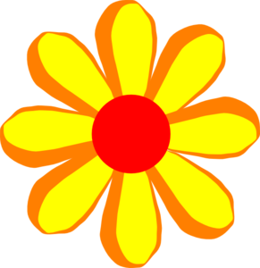 Red Flower clipart catoon #7