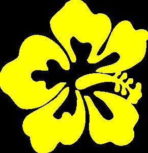 Yellow Flower clipart tropical flower Art Hibiscus clip info magiel