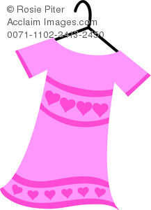 Pink Dress clipart With of Hearts Dress With
