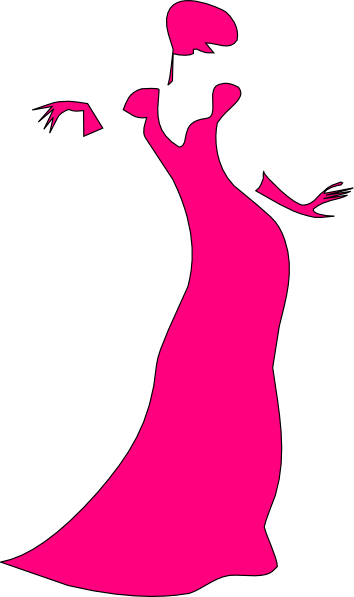 Pink Dress clipart #14