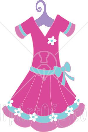 Pink Dress clipart #10
