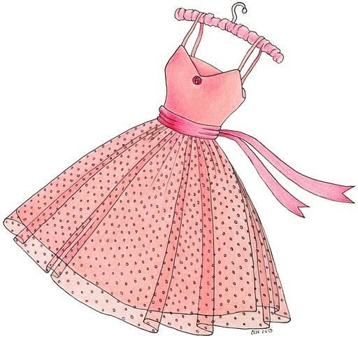 Pink Dress clipart #15