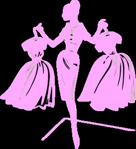 Pink Dress clipart #9