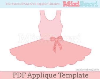 Pink Dress clipart ballet costume Etsy Tutu Instant Ballet PDF