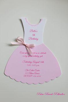 Pink Dress clipart ballet costume Ballet Ballerina Applique Invitations Palm