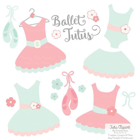Pink Dress clipart ballet costume Scrapbooks Mint and Dress Art