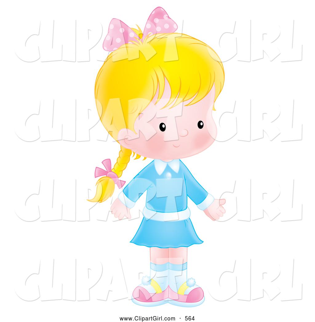 Pink Dress clipart shy child #2