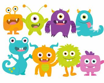 Pink Eyes clipart baby monster #10