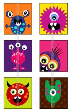 Pink Eyes clipart baby monster 75 /  Cute tiles