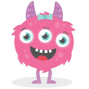 Pink Eyes clipart cute monster Scrapbooking Files images Pinterest Miss